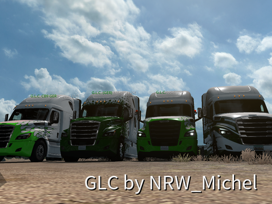 Vier mal Global-Logistic-Company Freightliner