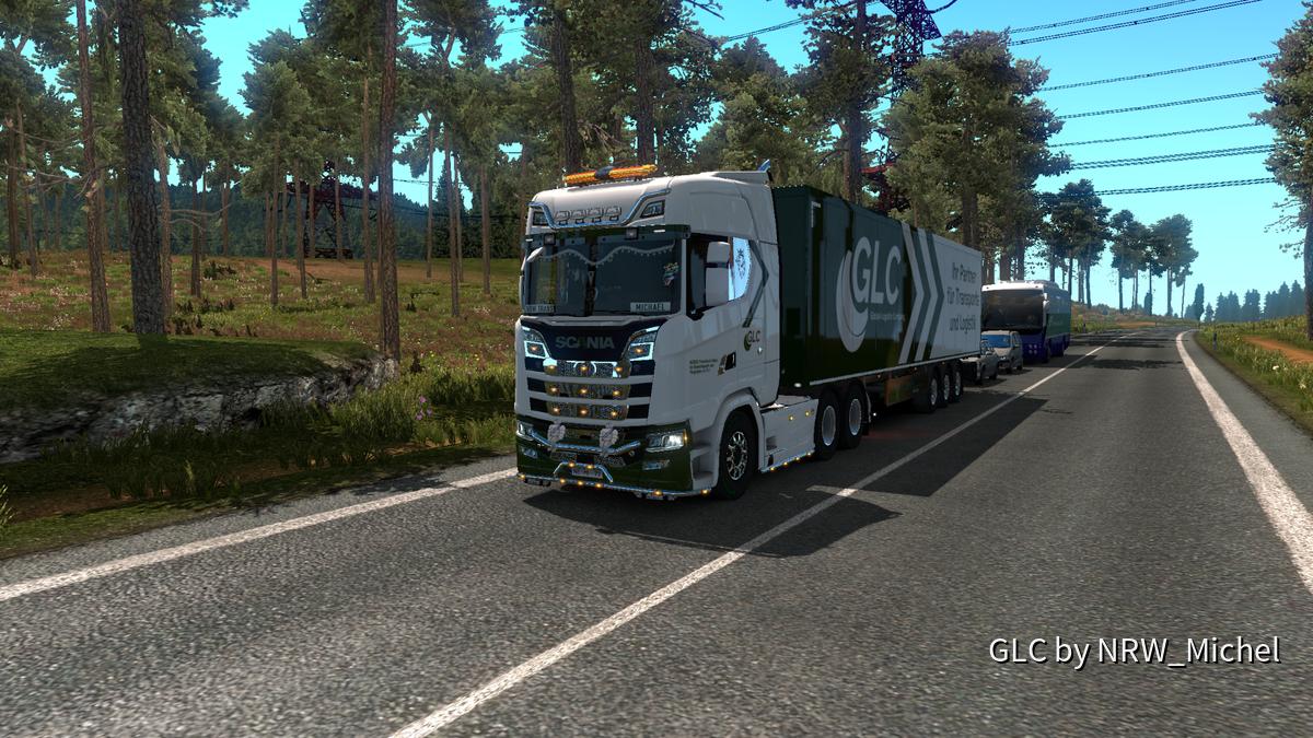Mein Scania mit im GLC-Skin mit Kontortrailer mit GLC-Skin